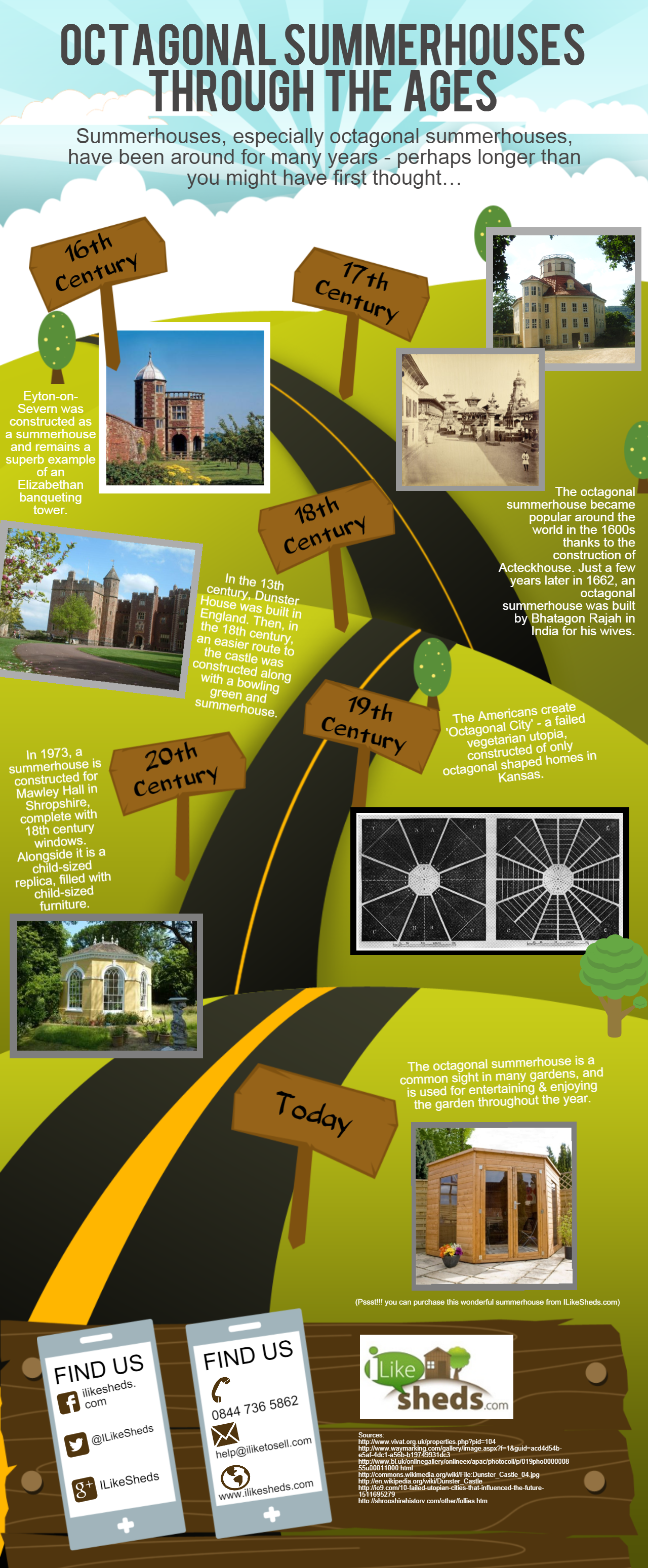 ILikeSheds Octagonal Summerhouses Infographic