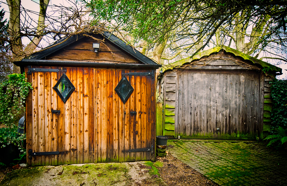 Nice Wooden Garages Create A Fantasy Ambiance.